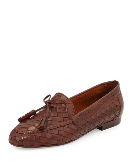 Sesto Meucci Nicole Woven Leather Loafer, Cuoio