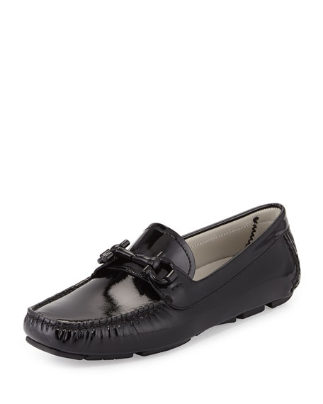 Salvatore Ferragamo Parigi Patent Gancini Loafer, Black (Nero)