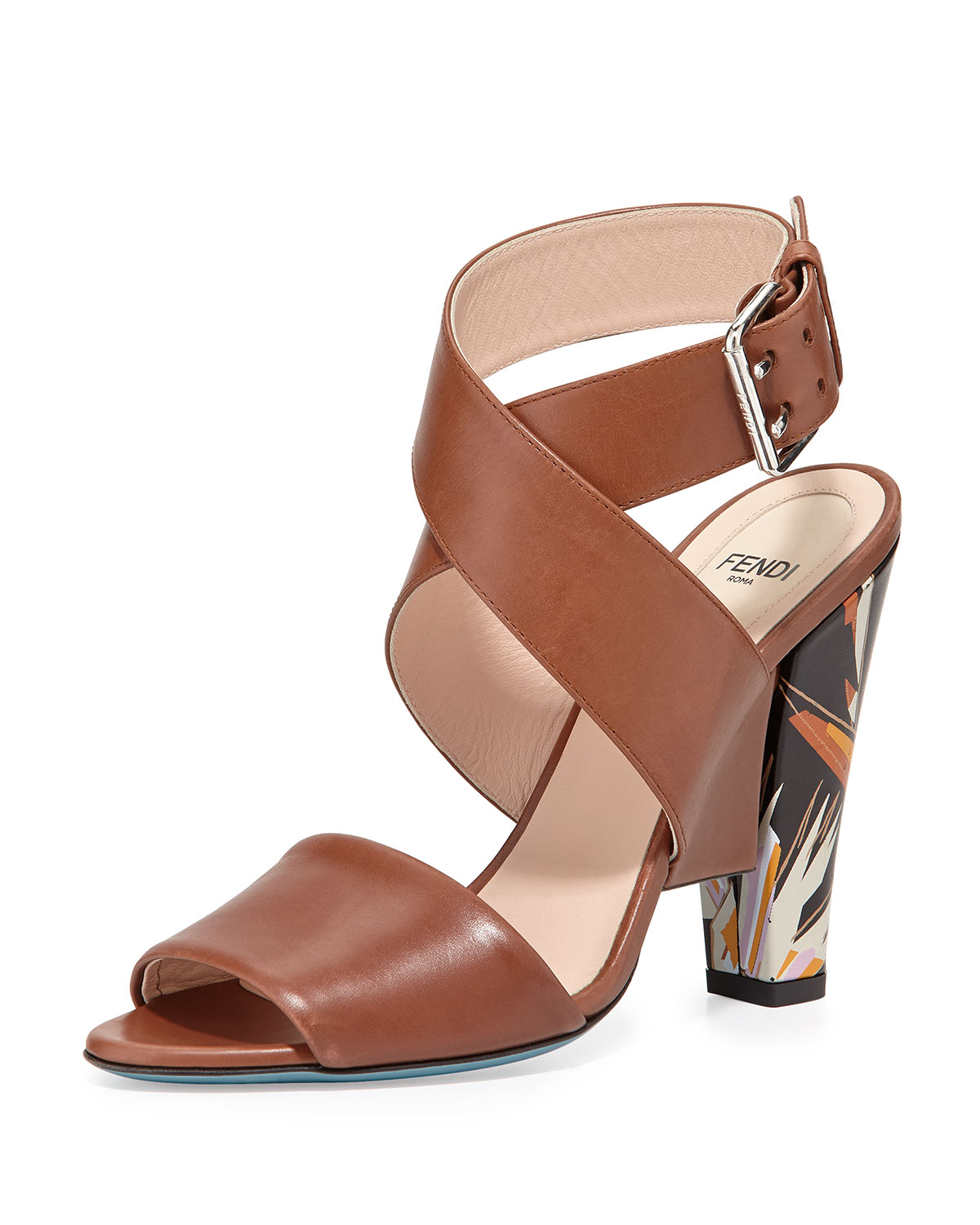 buy cheap discount buy cheap pictures Fendi Birds of Paradise Leather Sandals discount reliable 86Qhwn