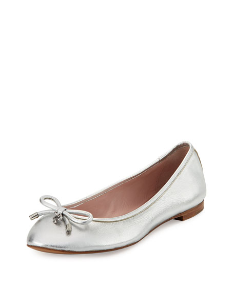 kate spade new york willa metallic leather ballerina