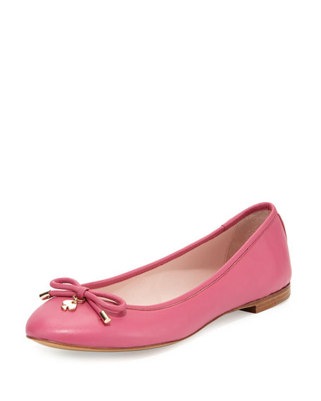 kate spade new york willa classic leather ballerina
