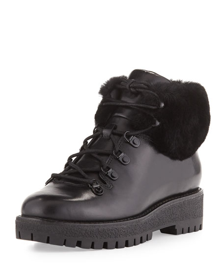 MICHAEL Michael Kors Putnam Shearling Fur Hiking Boot,
