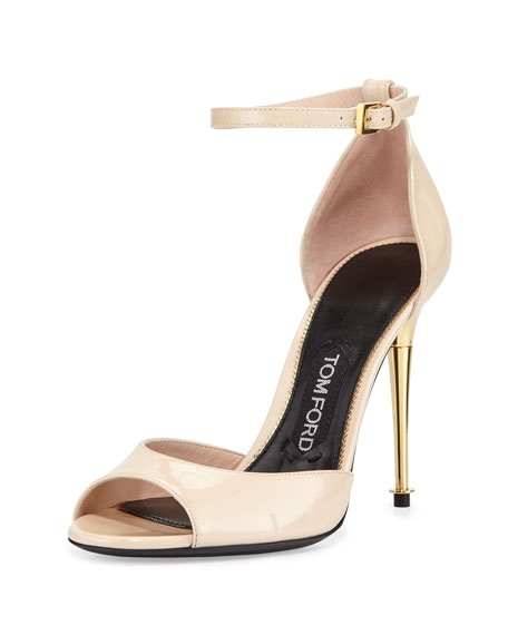 TOM FORD Patent Leather d'Orsay Sandal, Nude
