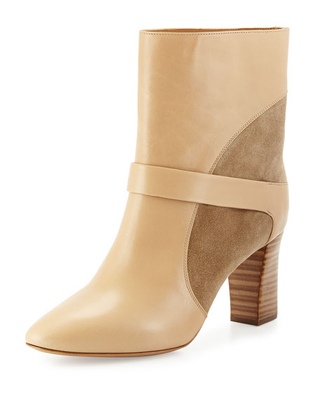 Chloe Gianna Leather Colorblock Boot, Taupe