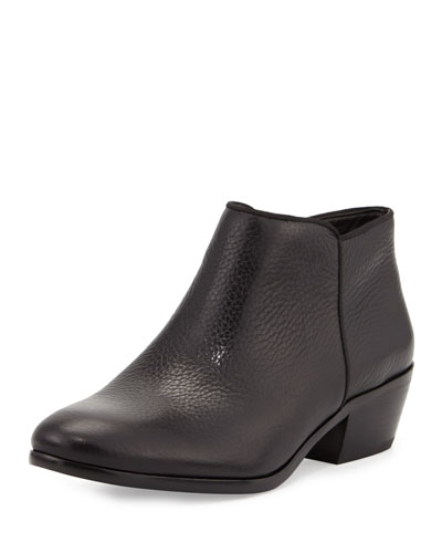 Petty Leather Ankle Bootie, Black