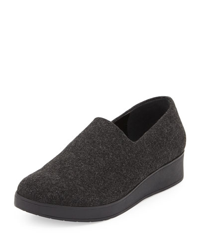 Vilaa Stretch-Gabardine Slip-On, Gray