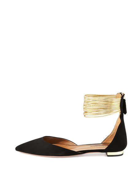 Hello Lover Ankle-Strap Flat, Black