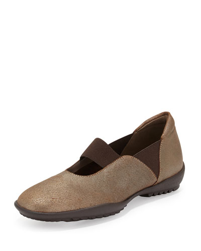 Adrian Casual Leather Flat, Bronze