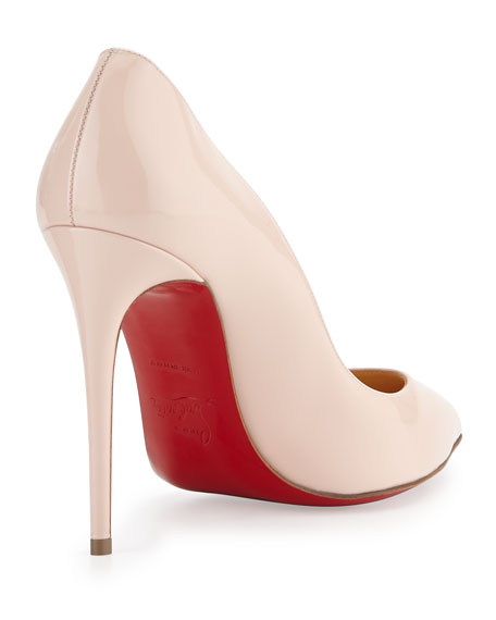 Christian Louboutin Pigalles Follies Patent 100mm Red Sole Pump, Ballerina Pink
