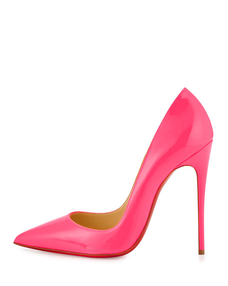 So Kate Patent 120mm Red Sole Pump, Shocking Pink