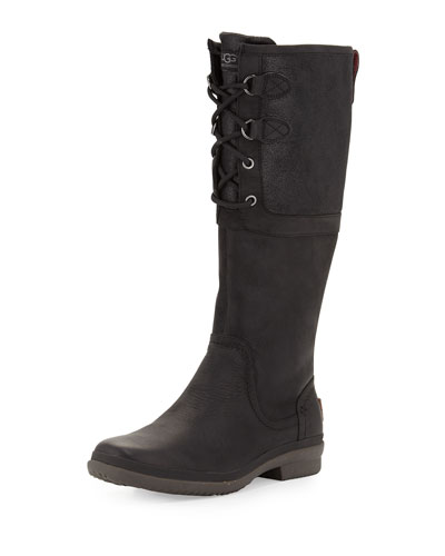 Elsa Weather-Resistant Knee Boot, Black