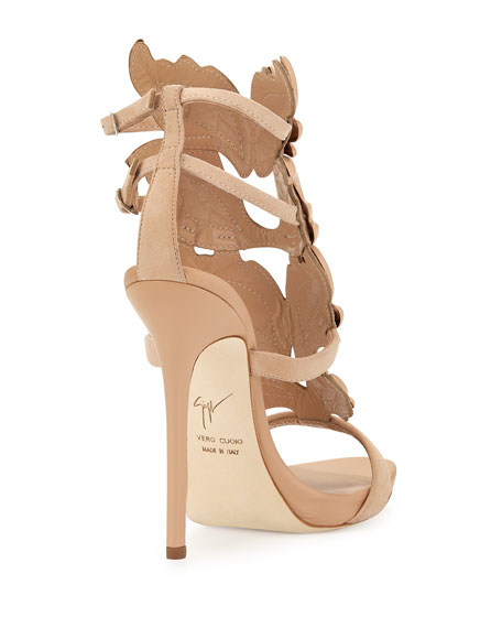 Wings Suede High-Heel Sandal, Fondotina