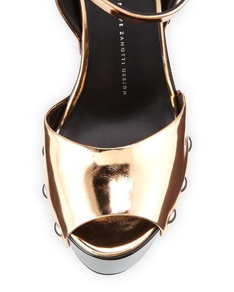 Metallic Wooden Clog Sandal, Ramino