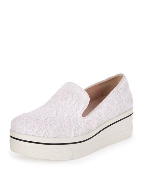 Stella McCartney Binx Lace Platform Sneaker, White