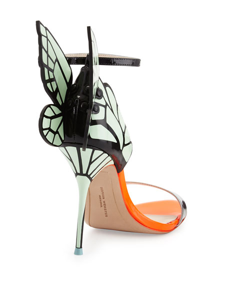 Sophia Webster Chiara Butterfly Wing Sandal, Mint