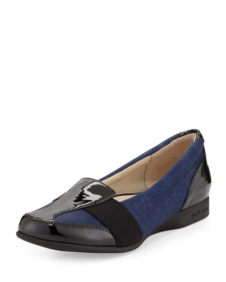 Taryn Rose Taurus Suede Comfort Slip-On, Navy