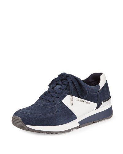 Allie Sport Suede Sneaker, Navy
