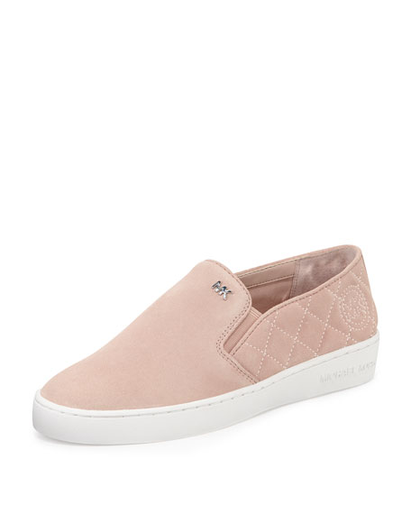 Keaton Quilted Suede Sneaker, Ballet