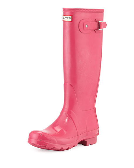 Hunter Boot Original Tall Gloss Rain Boot, Bright