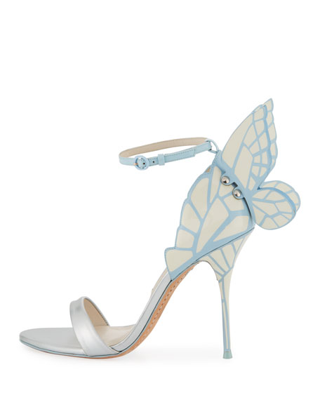 Chiara Butterfly Wing Bridal Sandal, Ice