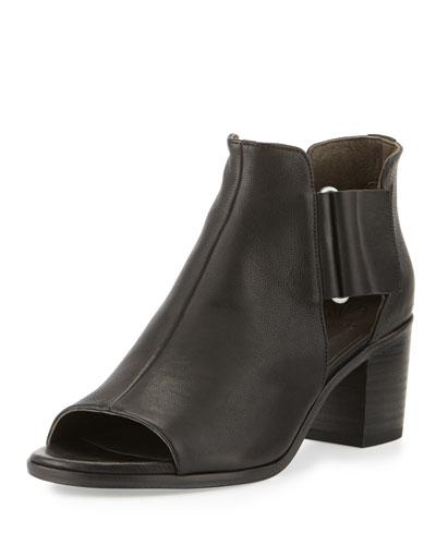 Zephira Leather City Sandal, Black