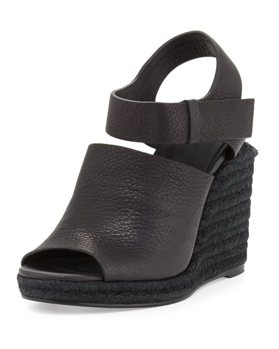 Tori Espadrille Wedge Sandal, Black