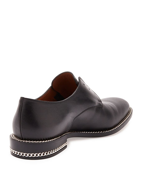Givenchy Chain-Wrapped Derby Oxford, Black