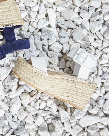Image 2 of 5: Abby Leather Espadrille Sandal, Plaster
