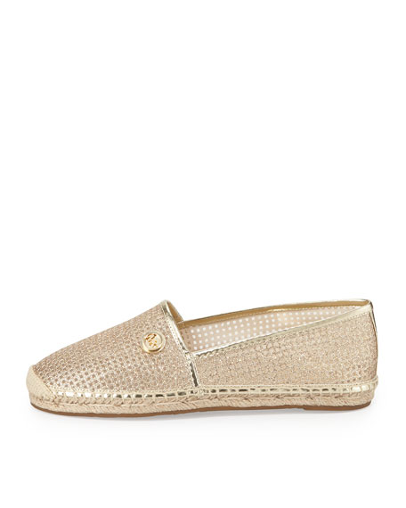 Kendrick Perforated Mesh Espadrille, Pale Gold