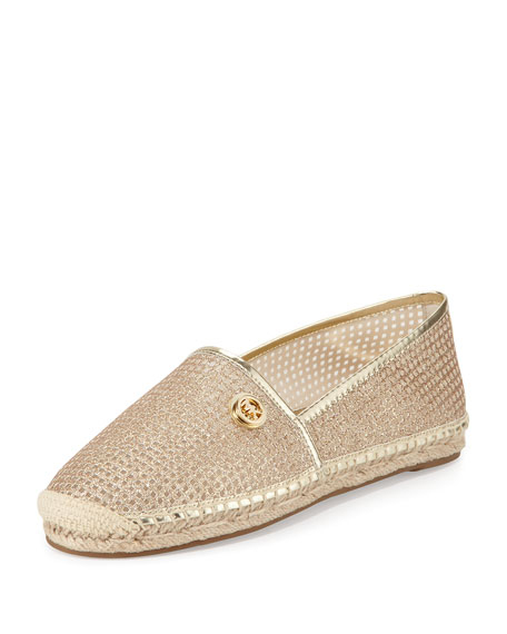 MICHAEL Michael Kors Kendrick Perforated Mesh Espadrille, Pale Gold