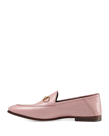 Brixton Leather Horsebit Loafer, Carmine Rose