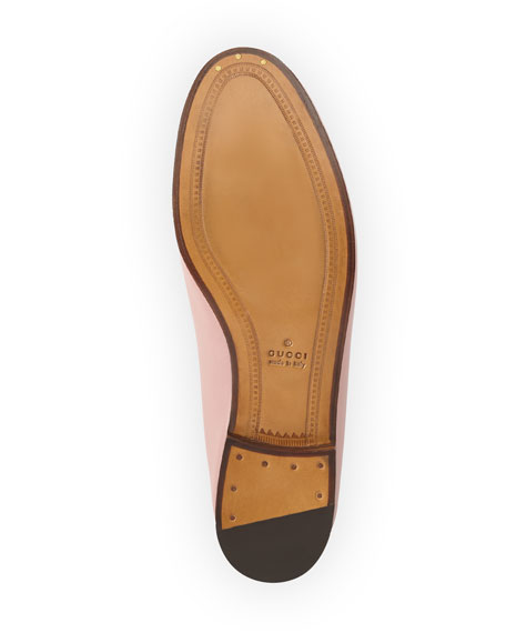 Gucci Brixton Leather Horsebit Loafer, Carmine Rose