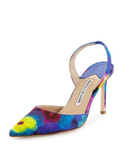 Carolyne Tie-Dye High-Heel Pump, Multicolor