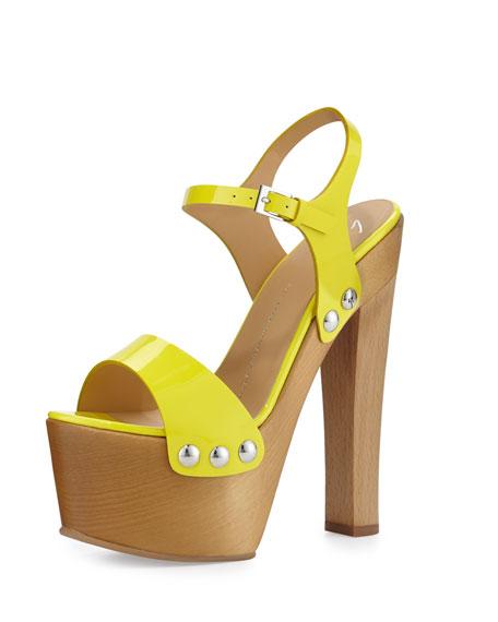 Giuseppe Zanotti Studded Patent Clog Sandal, Oikos