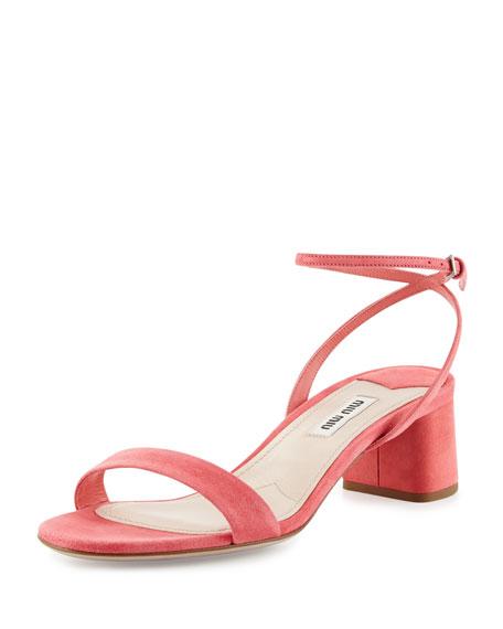 Miu Miu Ankle Strap Suede Sandals cheap price top quality sale deals sale sast 0z71lhy