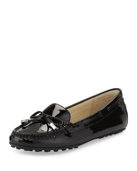 Daisy Patent Bow Moccasin, Black