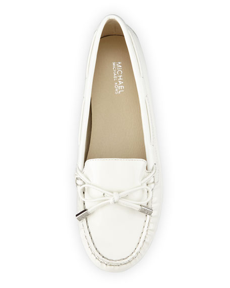 Daisy Patent Bow Moccasin, Optic White