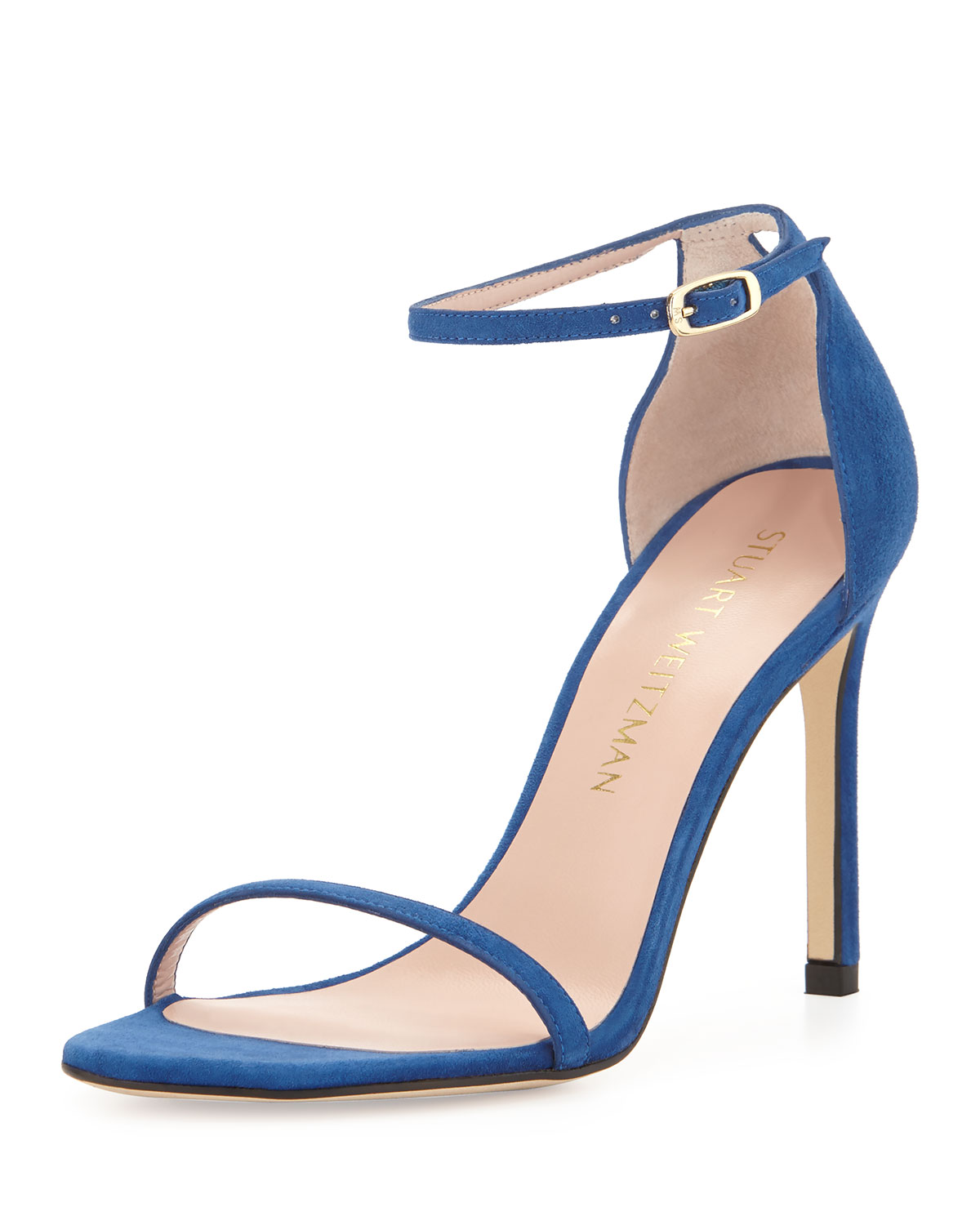 f93659b39a5a Stuart Weitzman Nudistsong Suede Ankle-Wrap Sandals