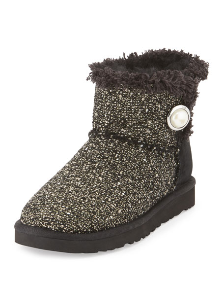 Mini Bailey Button Fancy Tweed Boot