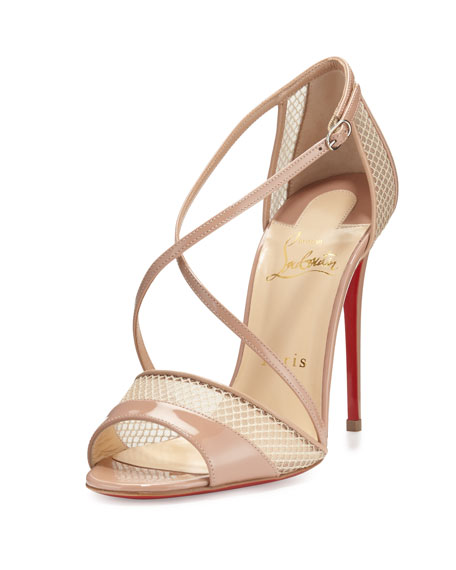 christian louboutin silk d'orsay sandals