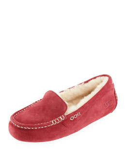 Ansley Moccasin Slipper, Wine