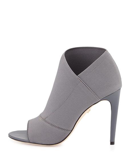 Diana Peep-Toe Bootie, Gray