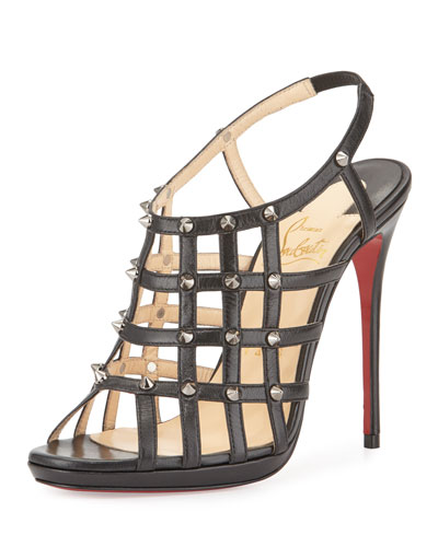 louboutin replica boots - christian louboutin caged sandals Black suede | The Little Arts ...