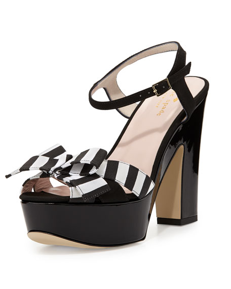 kate spade new york annie striped grosgrain platform