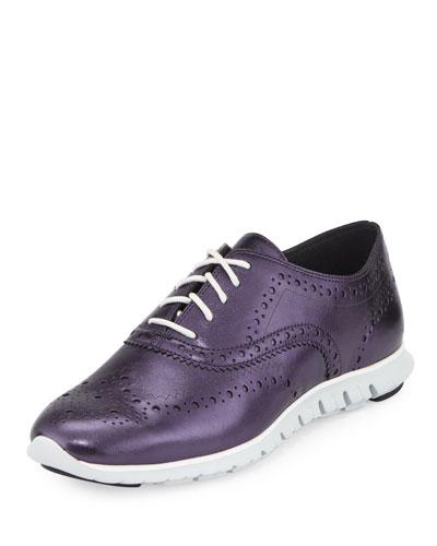 ZeroGrand™ Metallic Wing-Tip Oxford Sneaker, Blazer/Blue/Optic White