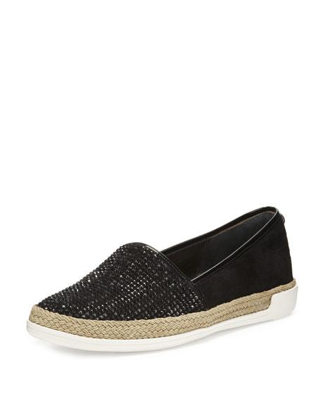 Donald J Pliner Pizasp Rhinestone Slip-On Sneaker, Black