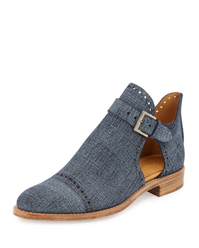 Mr. Ed Suede Cutout Bootie, Denim