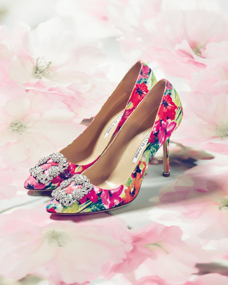 Hangisi Floral-Print 105mm Pump, Multicolor