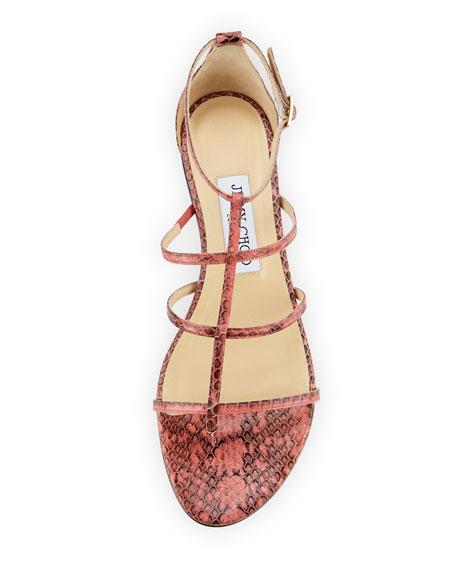 5c2ddd9cbff4 Jimmy Choo Dory Caged Snakeskin Sandals