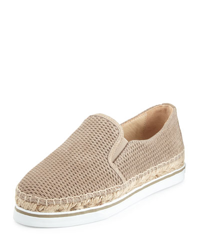 Jimmy Choo Dawn Suede Espadrille Sneaker, Light Gold